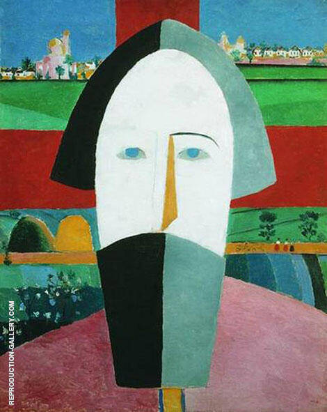 Head of a Peasant 2 Painting By Kazimir Malevich - Reproduction Gallery