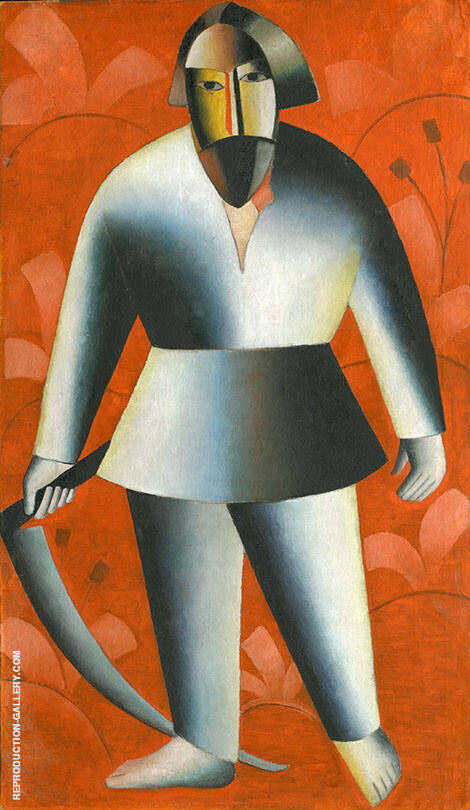 Reaper Painting By Kazimir Malevich - Reproduction Gallery