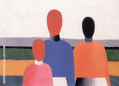 Three Female Figures By Kazimir Malevich