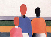 Three Female Figures By Kazimir Malevich