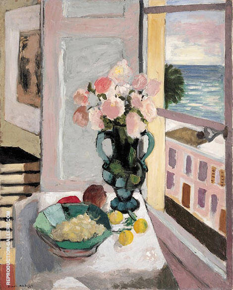 Safrano Roses at the Window 1925 By Henri Matisse