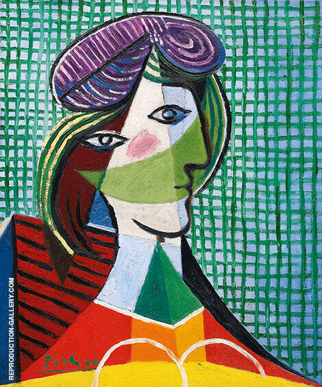 Tete de Femme 1935 Painting By Pablo Picasso - Reproduction Gallery