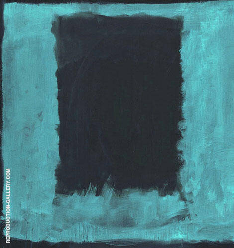 Aqua over Black By Mark Rothko (Inspired By)
