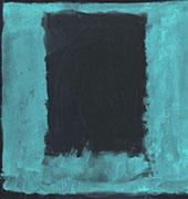 Aqua over Black By Mark Rothko (Inspired By)