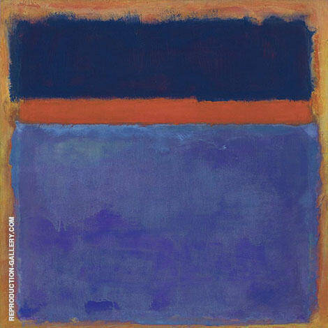 Two Blues with Orange Band By Mark Rothko (Inspired By)