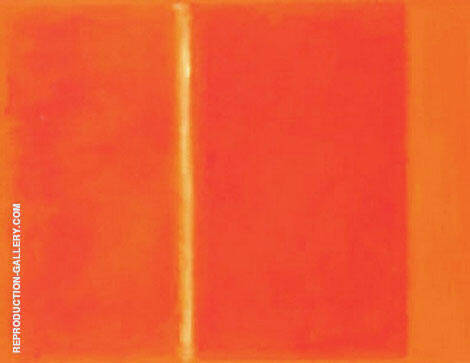 Orange with Vertical Line By Mark Rothko (Inspired By)