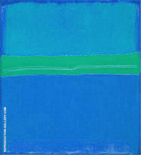 Blues with Green Band By Mark Rothko (Inspired By)