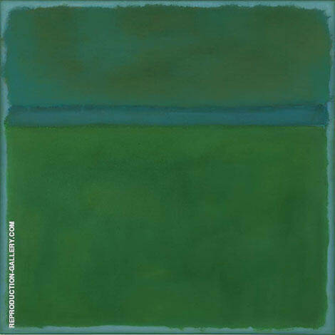 Green Over Blue By Mark Rothko (Inspired By)