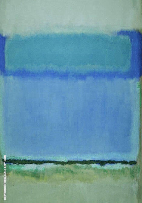 Blue and Green with Black Line By Mark Rothko (Inspired By)