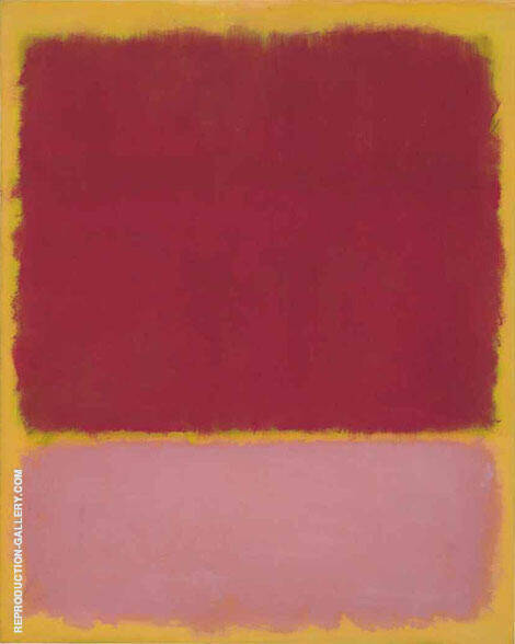 Plum and Pink over Yellow Portrait Format By Mark Rothko (Inspired By)