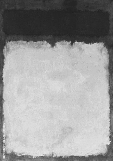 Grey and Black with White By Mark Rothko (Inspired By)