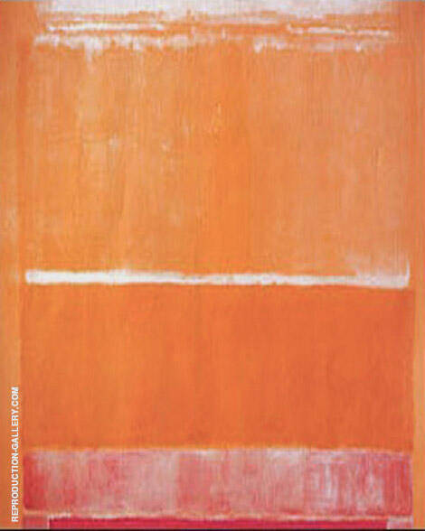 Raspberry Orange and White By Mark Rothko (Inspired By)