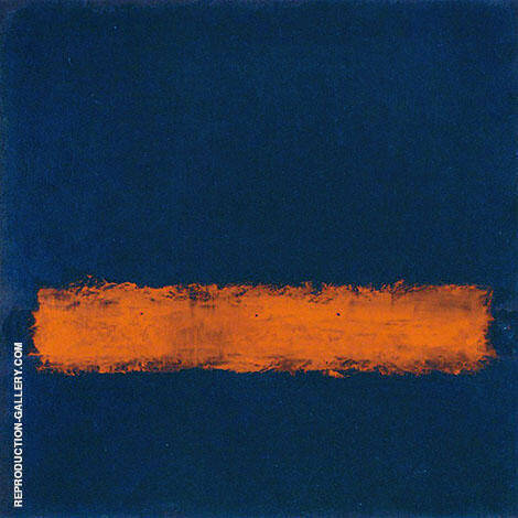 Blue with Orange Band By Mark Rothko (Inspired By)