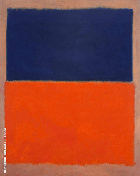 Royal Blue and Orange By Mark Rothko (Inspired By)