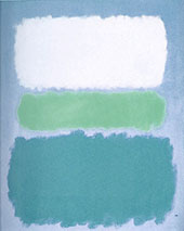 White Green and Teale By Mark Rothko (Inspired By)