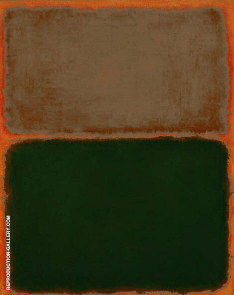 Green and Taupe on Orange By Mark Rothko (Inspired By)