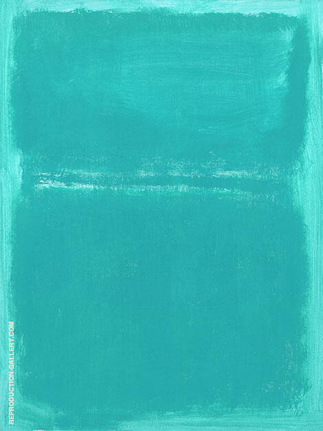 Aqua over Light Aqua By Mark Rothko (Inspired By)