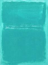 Aqua over Light Aqua By Mark Rothko (Inspired By)