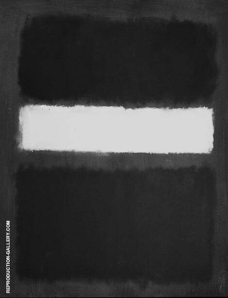 Black and Grey with White Band By Mark Rothko (Inspired By)