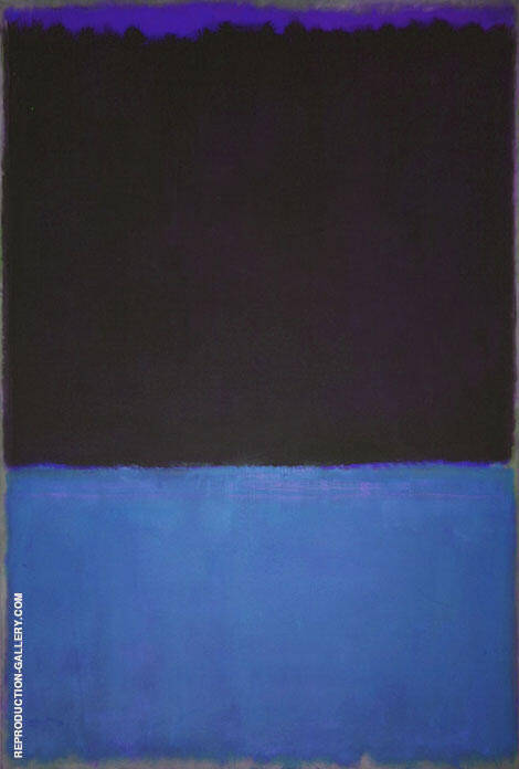 Black and Blue with Violet By Mark Rothko (Inspired By)