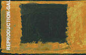 Black Rectangle over Orange By Mark Rothko (Inspired By)