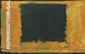 Black Rectangle over Orange By Mark Rothko (Inspired By)