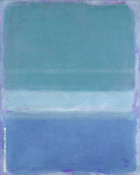 Blues over Violet By Mark Rothko (Inspired By)