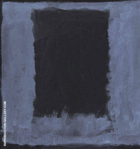 Black Rectangle on Blue By Mark Rothko (Inspired By)
