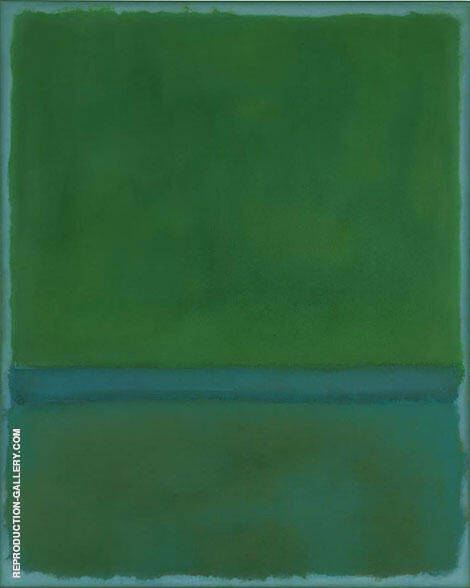 Green and Blue Portrait format By Mark Rothko (Inspired By)
