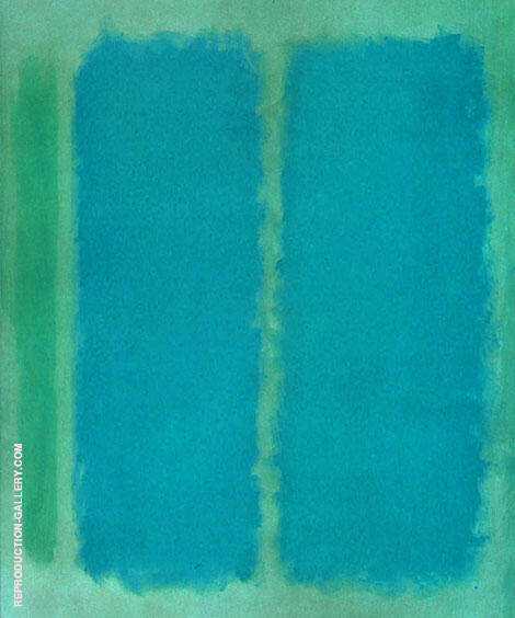 Aquamarine and Marine By Mark Rothko (Inspired By)