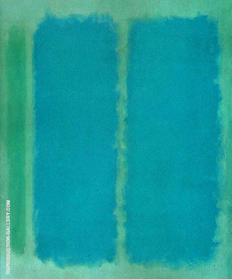 Aquamarine and Marine By Mark Rothko (Inspired By)