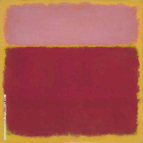 Pink over Plum Square By Mark Rothko (Inspired By)
