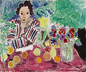 Striped Robe, Fruit, and Anemones 1940 By Henri Matisse