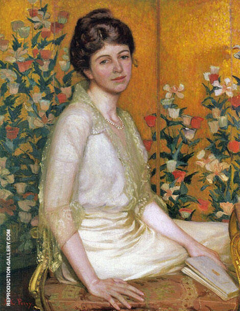 The Poppy Screen1915 Painting By Lilla Cabot Perry - Reproduction Gallery