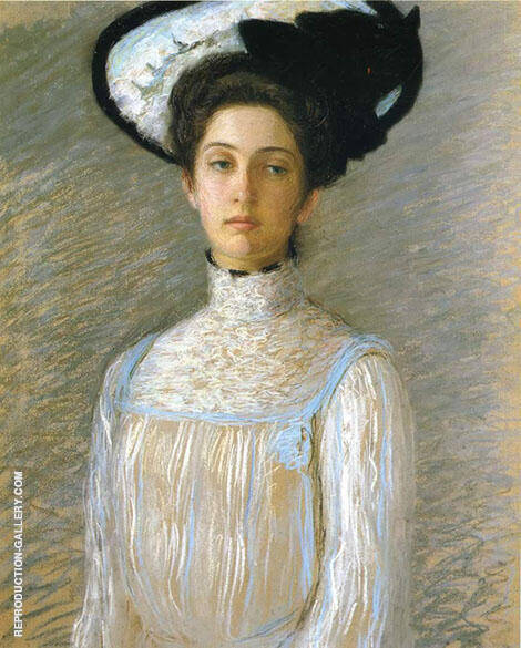 Alice in a White Hat 1904 By Lilla Cabot Perry