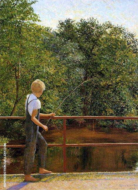 Boy Fishing 1909 By Lilla Cabot Perry
