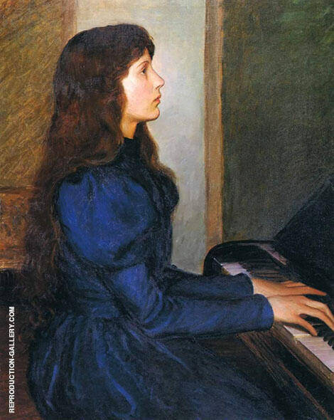 Alice Perry Playing by Heart 1897 By Lilla Cabot Perry