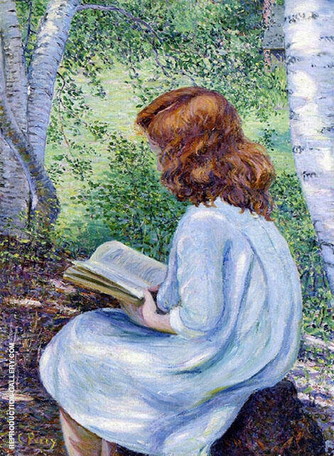 Child with Red hair Reading By Lilla Cabot Perry