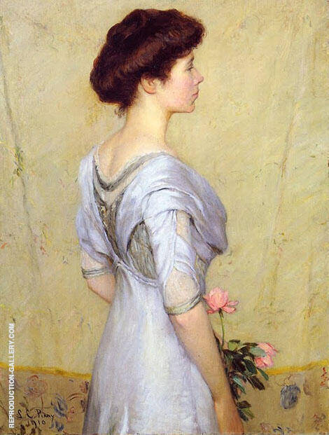 Pink Rose 1910 By Lilla Cabot Perry