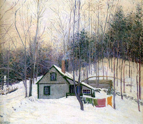 A Snowy Monday By Lilla Cabot Perry