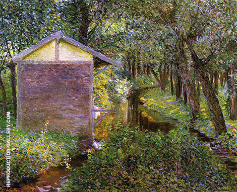 Brook and Wash House Giverny By Lilla Cabot Perry