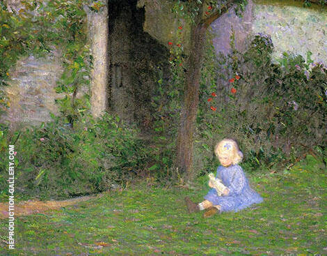 Child in a Walled Garden, Giveny By Lilla Cabot Perry
