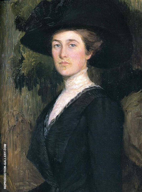 Portrait of Elizabeth Cabot Lyman By Lilla Cabot Perry