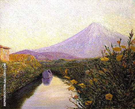 Fuji From the Canal Iwabuchi 1901 By Lilla Cabot Perry