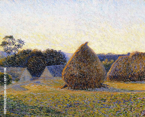 Haystacks Giverny 1896 By Lilla Cabot Perry