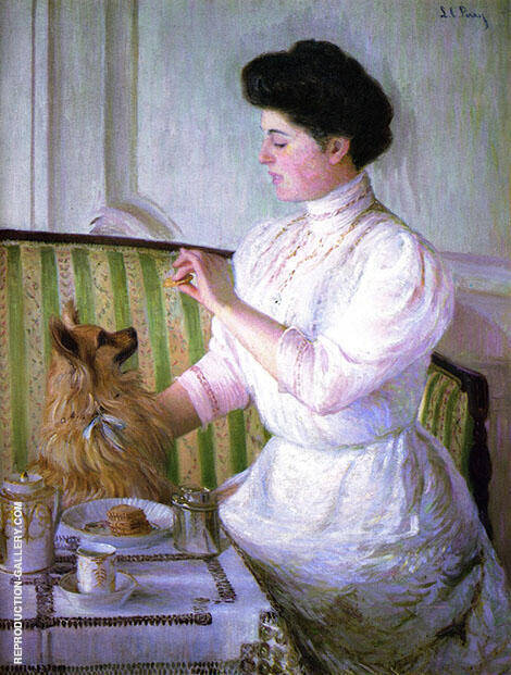 Lady at the Tea Table 1905 By Lilla Cabot Perry