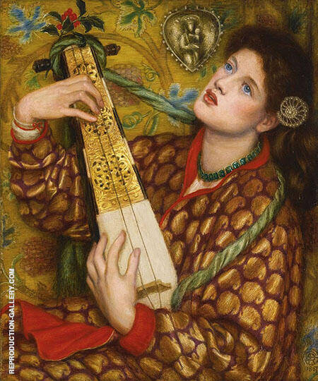 A Christmas Carol Painting By Gabriel Dante Rossetti