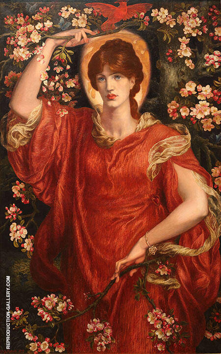 A Vision of Fiammetta Painting By Gabriel Dante Rossetti