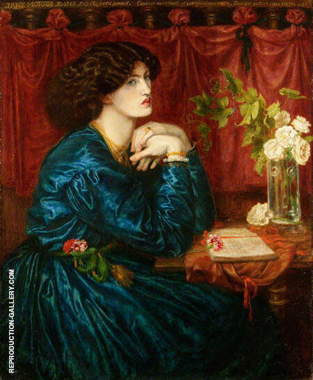 Jane Morris The Blue Silk Dress Painting By Gabriel Dante Rossetti