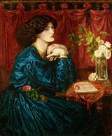Jane Morris The Blue Silk Dress By Dante Gabriel Rossetti